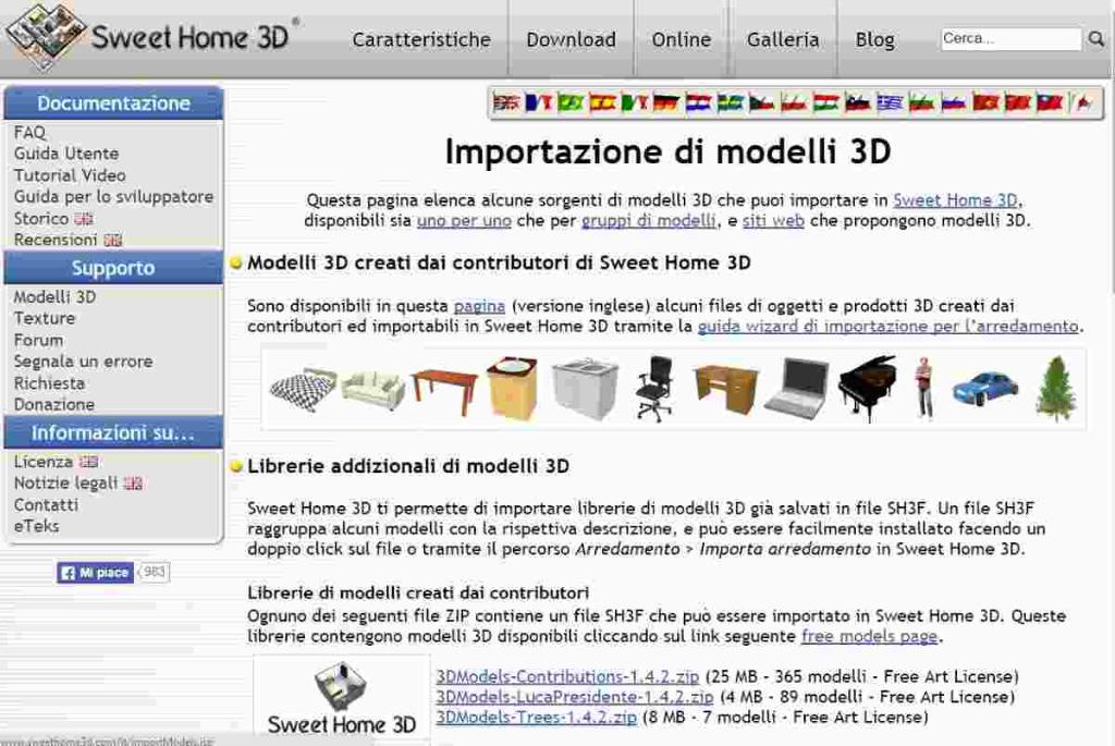 Sweet home 3d camxyz for Libreria arredamento sweet home 3d